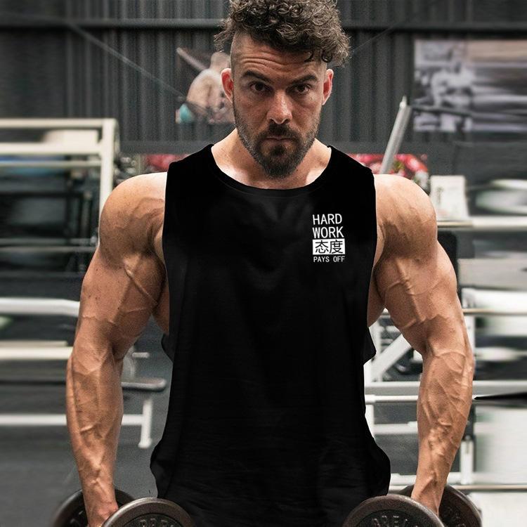 YBaeJ Drtraining brothers waistcoat sports t-shirt vest vest men's bodybuilding sleeveless muscle running T-shirt gOhZz