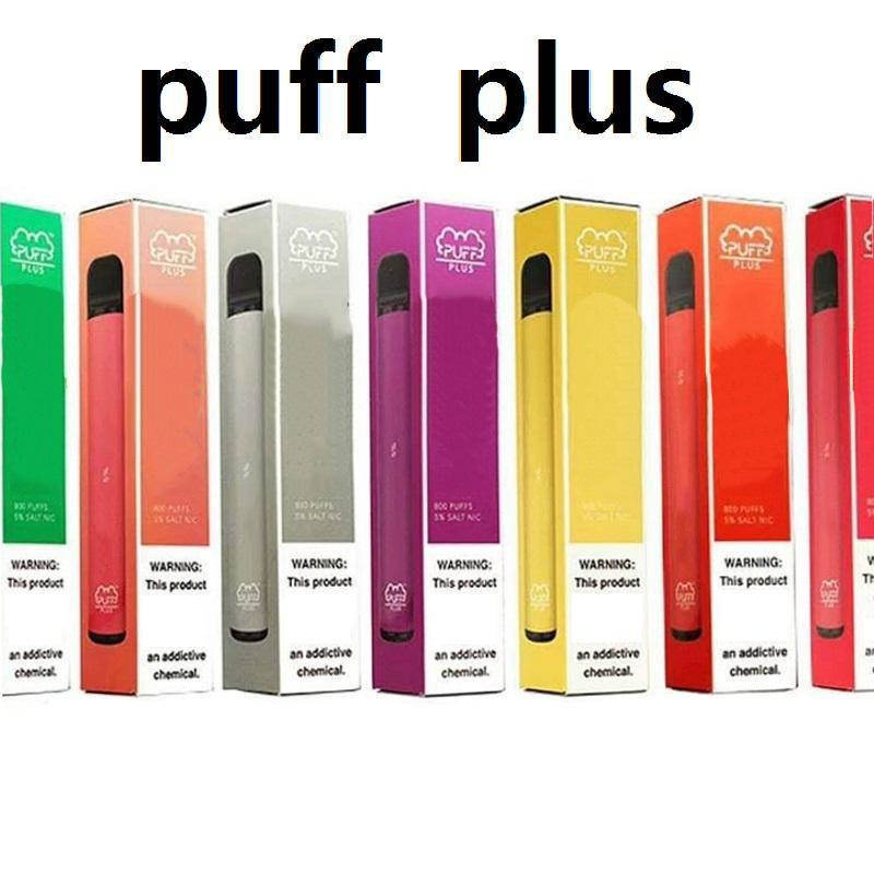Новая СЛОЙКА BAR PLUS 800 + пуфы Одноразового Vape Pen 550mAh Аккумулятор 3,2 мл Бобов картриджи Предварительно заполненный электронной Cigs ограниченной версии Испарители устройства