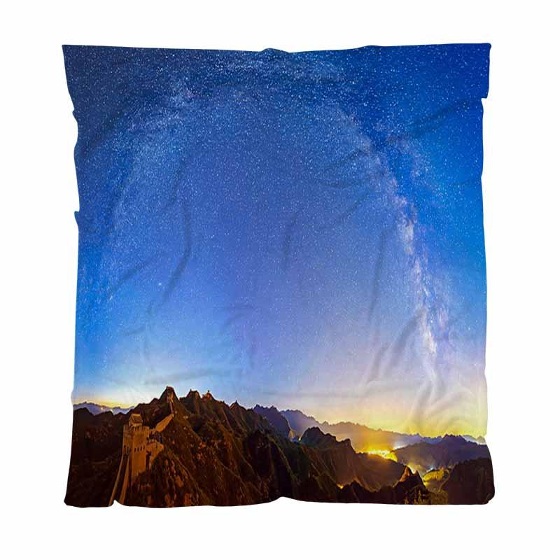 Luxus Super Soft Wurfdecke, die Große Mauer Unter der Milchstraße Bogen, All Season-Flanell-Decke perfekt für Couch Sofa oder Bett