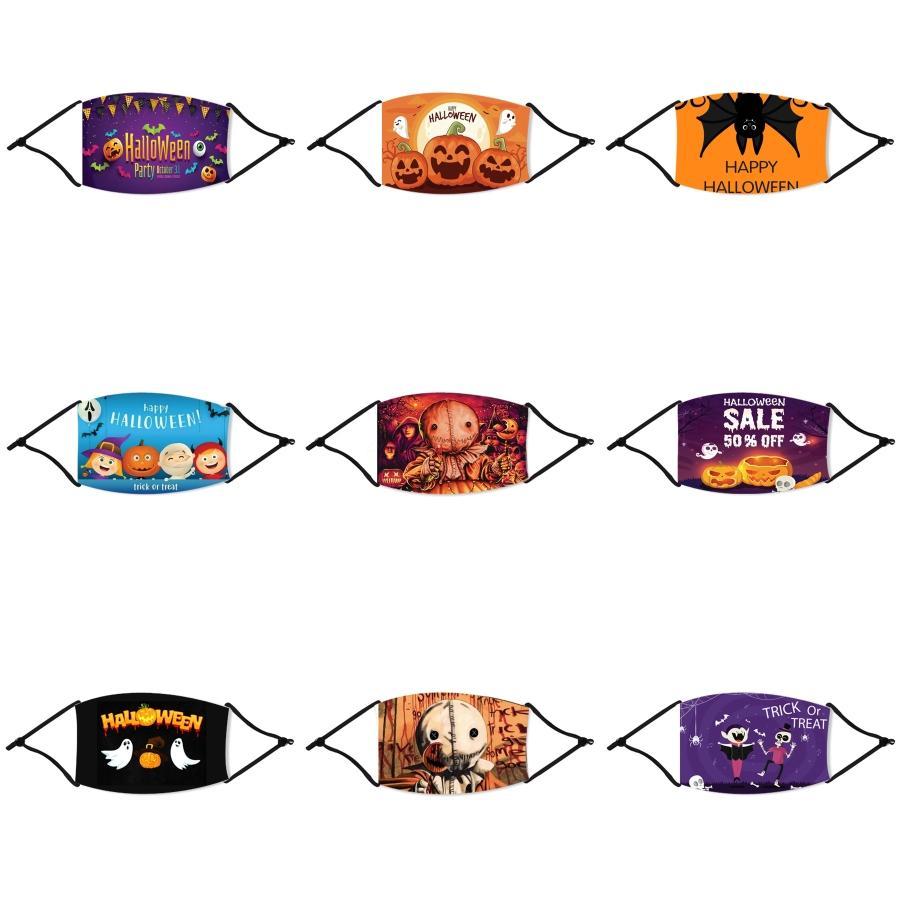 Cotone a quadri a righe Viso Halloween paglia Maschera addensare Warm antipolvere maschere di Halloween di paglia antivento riutilizzabile lavabile antipolvere Protec # 676