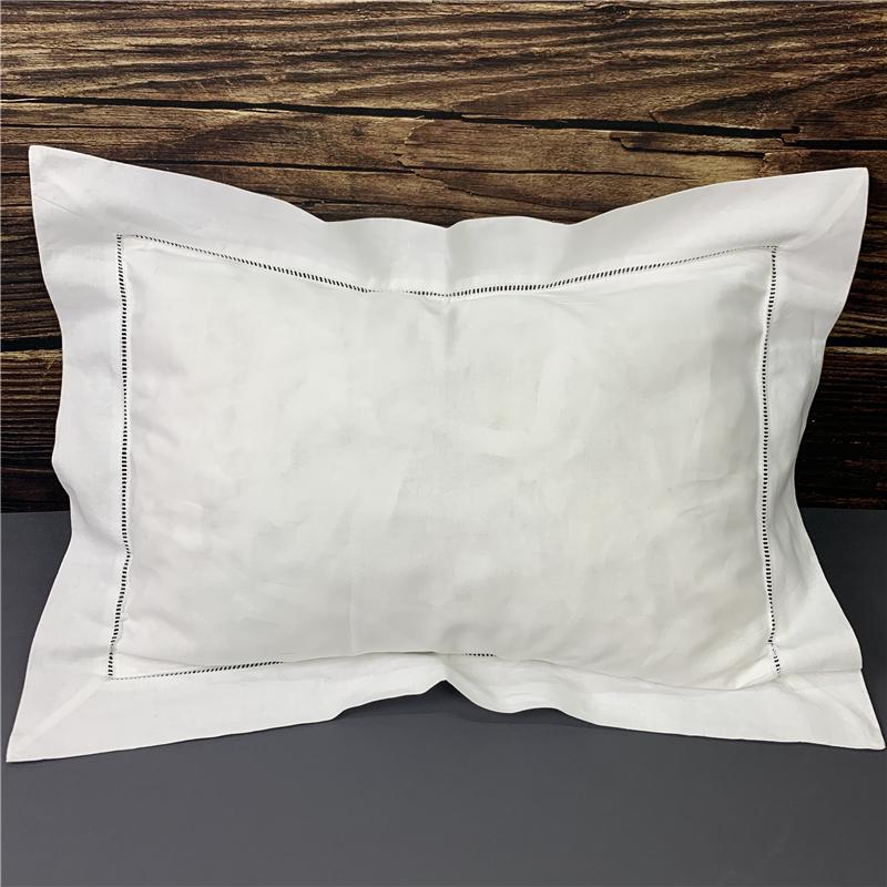 Conjunto de 2 Home Textiles almofada / travesseiro casos decorativa bebê almofada de algodão branco com casos hemstitched travesseiro Tamanho Fit bebê (12x16)