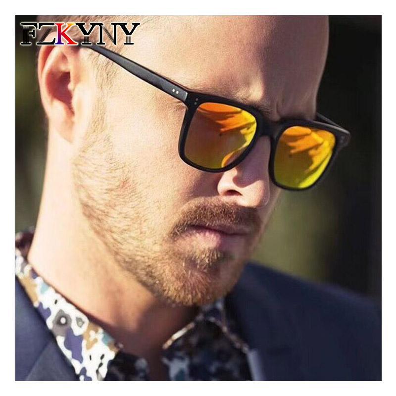 Sun Fzkyny Classic Óculos de Sol Marca Tonalidades Eyewear Vintage Moda Designer Óculos Homens Retro Rebites Revestimento Homens DCQGN
