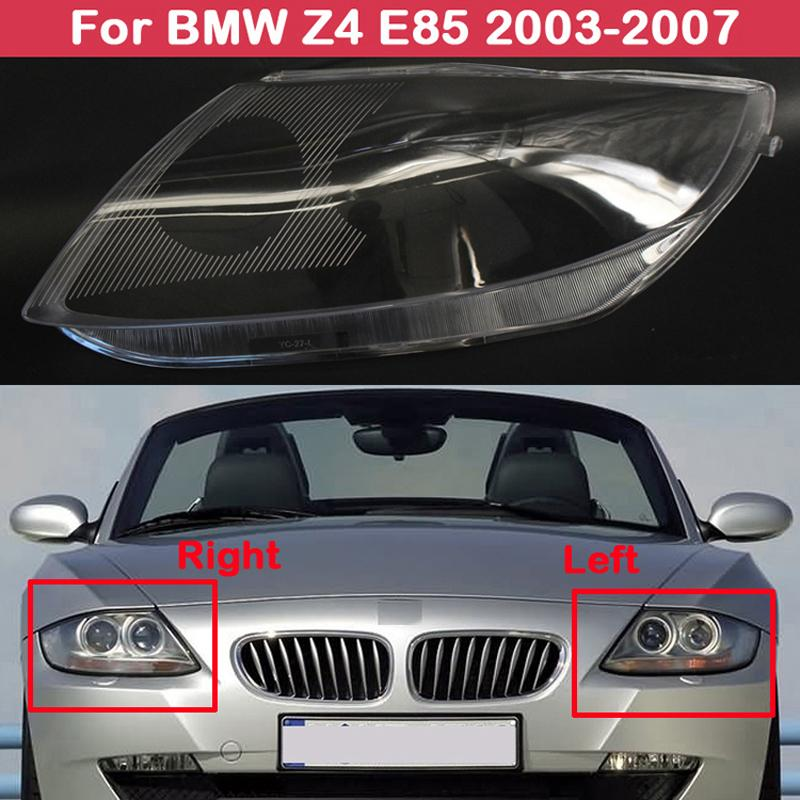 Headlamp Shade Transparent Headlight cover Head lamp Shell lampshade lens for BMW Z4 E85 2003 2007