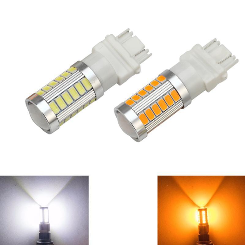 자동차 T25 3157 P27 / 7W 5630 5730 33SMD 12V 자동차 LED 점멸 테일 전구 켜고 브레이크를 중지 빛 역 DRL 안개 신호 램프