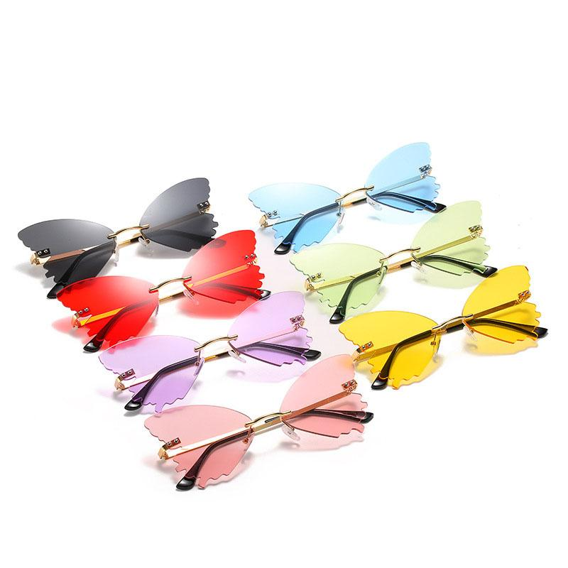 Vintage Eyewear UV400 Oversized Sunglasses Designer Butterfly Steampunk Womenless Moda Gafas de sol Tsvhn