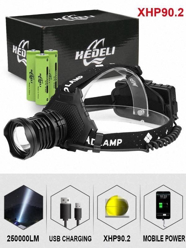 300000 Lm Xhp90.2 водить Фара Xhp90 высокой мощности лампы головного света Факел Usb 18650 Xhp70 головной свет Xhp50.2 Увеличить Фара Garrity 4Oux #