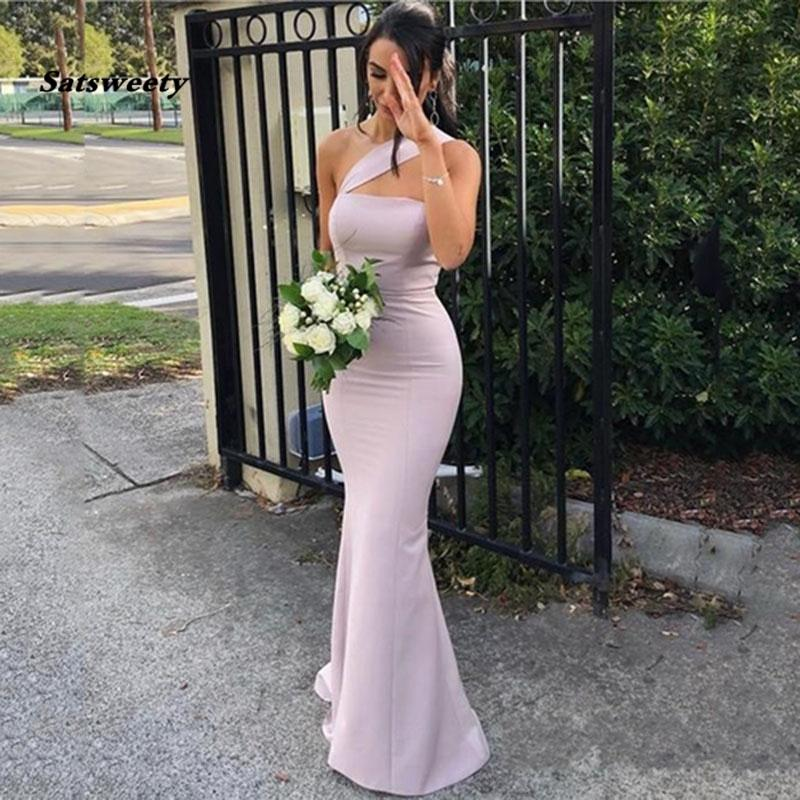 Stain Sexy Long One-Shoulder Prom Dress 2021 Chiffon Backless Formal Prom Party Gown Women Long Gala Evening Gowns