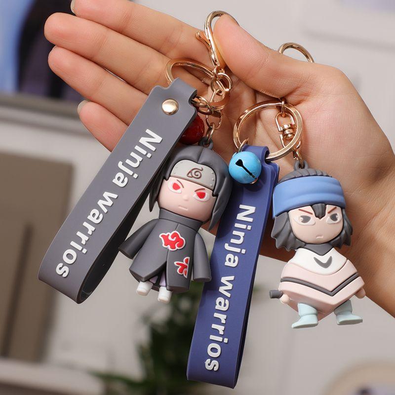 2020 New Hot New Naruto Naruto Keychain Sasuke / Itachi / Kakashi acrylique Porte-clés Pendentif Anime Cartoon Accessoires Porte-clés