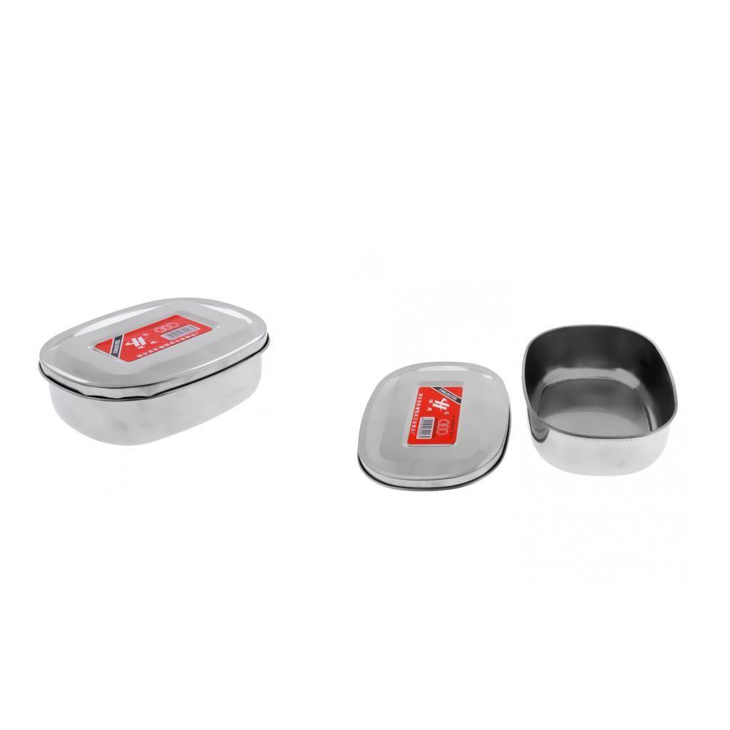 Edelstahl Lunch Box, Bento Box, Mess Zinn, Nahrungsmittelbehälter - Food Grade BPA frei