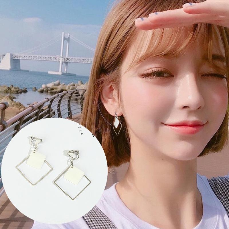 GVax1 nuovo stile coreano donne senza orecchio clip orecchio buco e orecchini