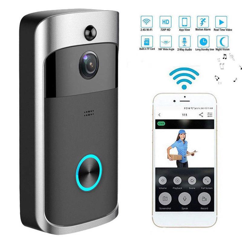 WIFI فيديو الجرس، كشف الحركة مع الأشعة تحت الحمراء للرؤية الليلية، اللاسلكية الذكية الجرس، بعد السيطرة على كاميرا HD WIFI الأمن الرئيسية