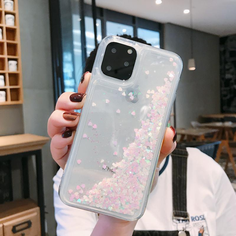 szbobo Líquido Quicksand Bling Glitter Phone Cases para iPhone 12 11 Pro Max XS MAX X XR 6 6S 8 7 Plus 5 engraxar os 5S SE Água Tampa Silicon