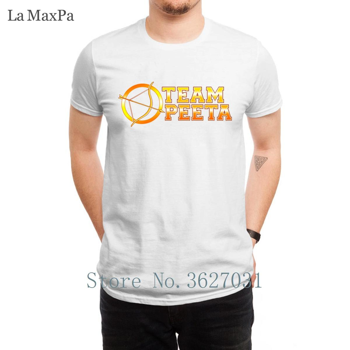 Designer Original T Shirt For Mens Team Peeta T-Shirts Weird Costume For Mens Comical 100% Cotton Mens Tee Shirt Tee Top