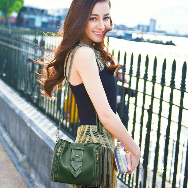 женщин сумки женщин сумка PU дамы руки сумки 2020 новый простой дикий ведро мешок дамы одно плечо диагональ дизайнерские сумки