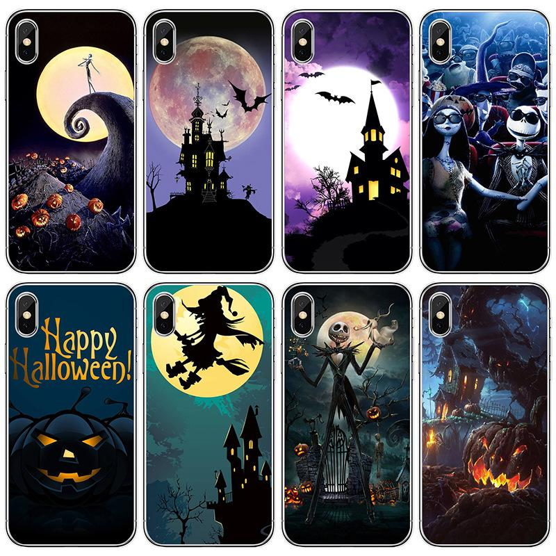 I-phone 12 Phone Case Pumpkin Ghost Phone Case Halloween Protective Cover Cell Phone Cases For 12 Case 12pro Max Xs Xsmax