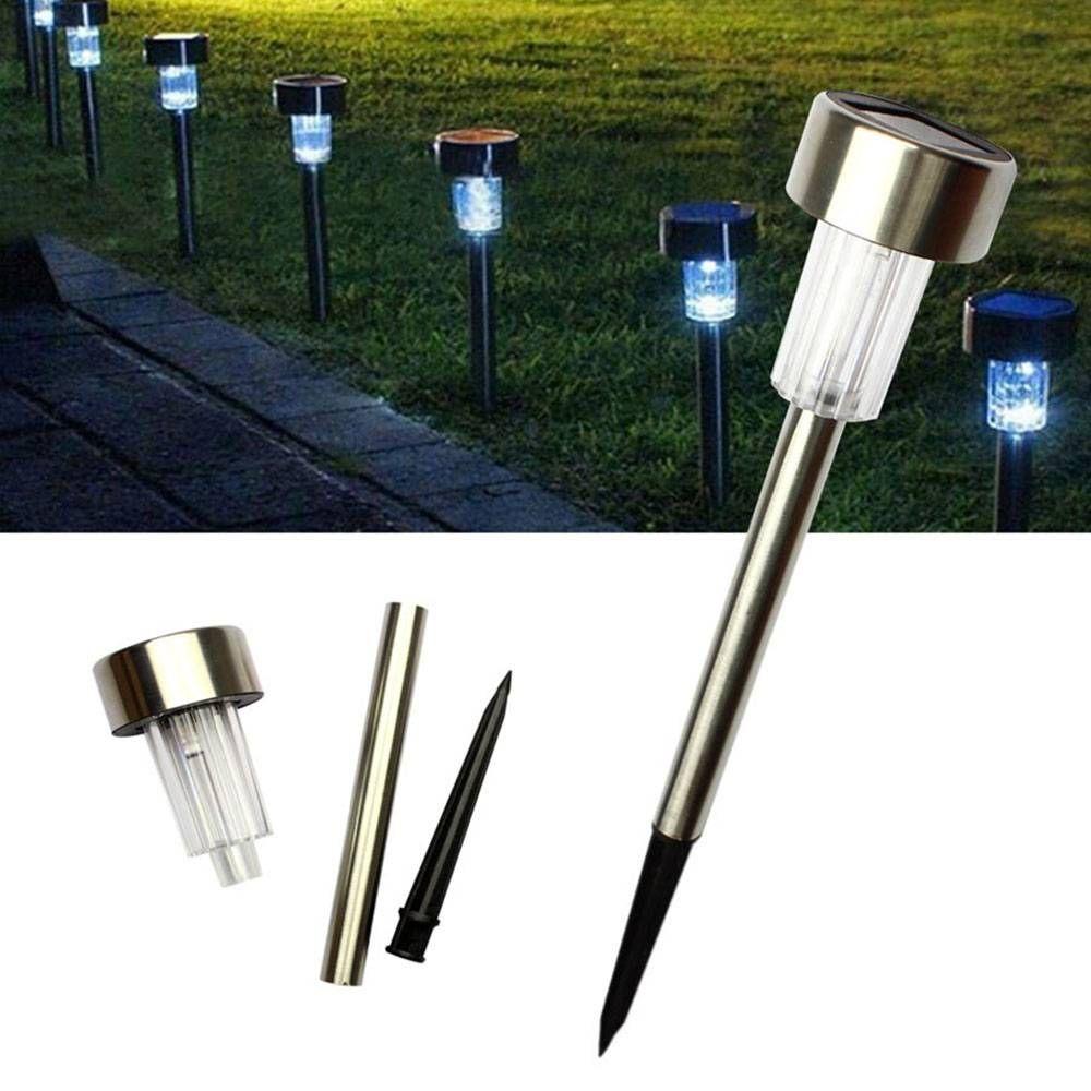 24pcs 5W Alto Brilho exterior Quintal Solar Power Led Lawn Lâmpadas Com Lampshades