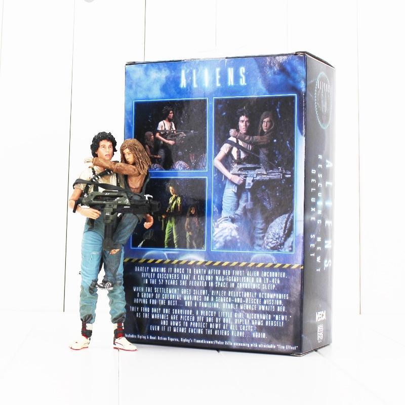 18cm Neca Alien 2 Dieser Krieg Ellen Ripley und Newt 30th Anniversary Pvc Action-Figur Spielzeug Sammler Modell Dolls Y200919 Time Es