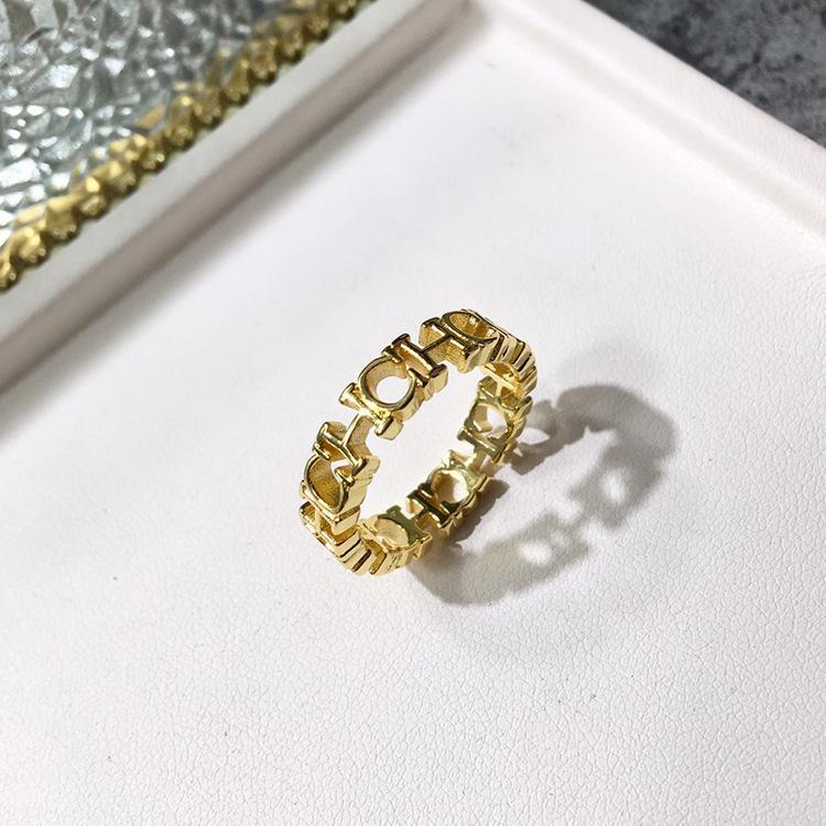 kadın ve kız arkadaşı takı hediye için zirkon Açılış çekicilik bilezik 18k altın yüzükle Üst pirinç malzeme paris tasarım yüzük