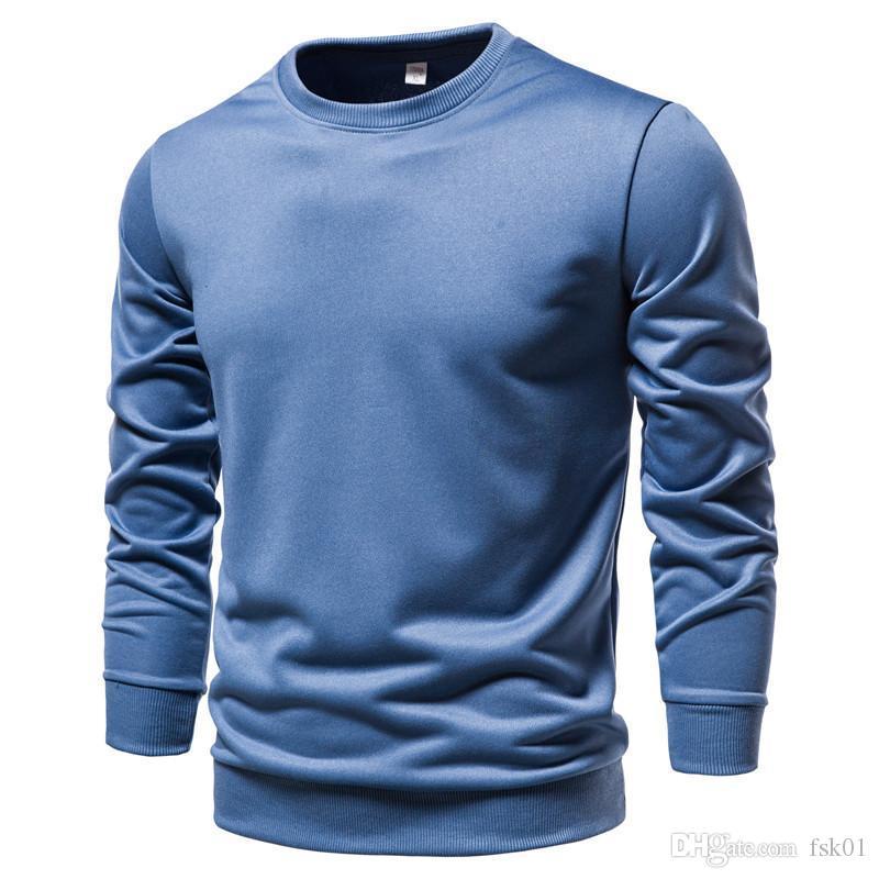 2020 New Solid Color Männer Pullover beiläufige Art und Weise einfache Multicolor Sporting Sweatshirts Männer Herbst Crewneck