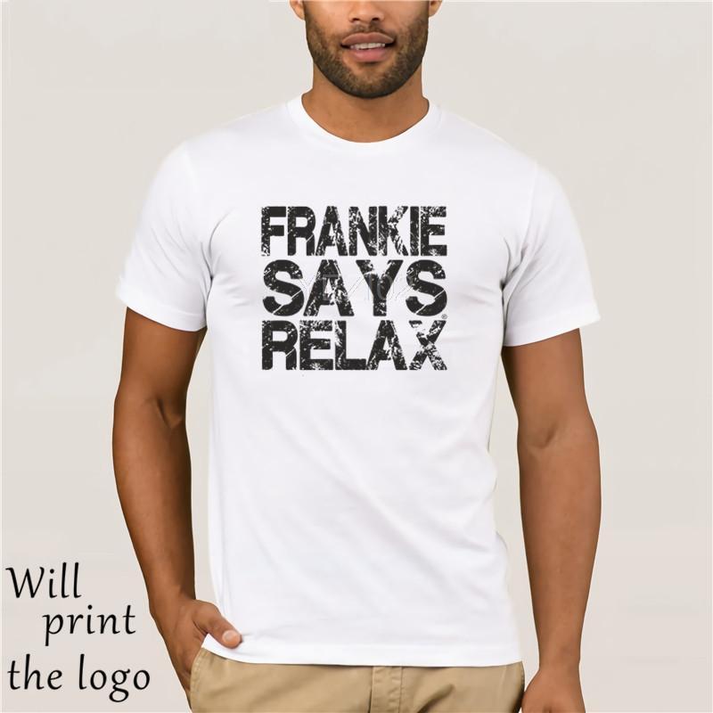 Frankie Says Relax logotipo apenado camiseta para hombre - 80 cumpleaños de vestir retro de lujo
