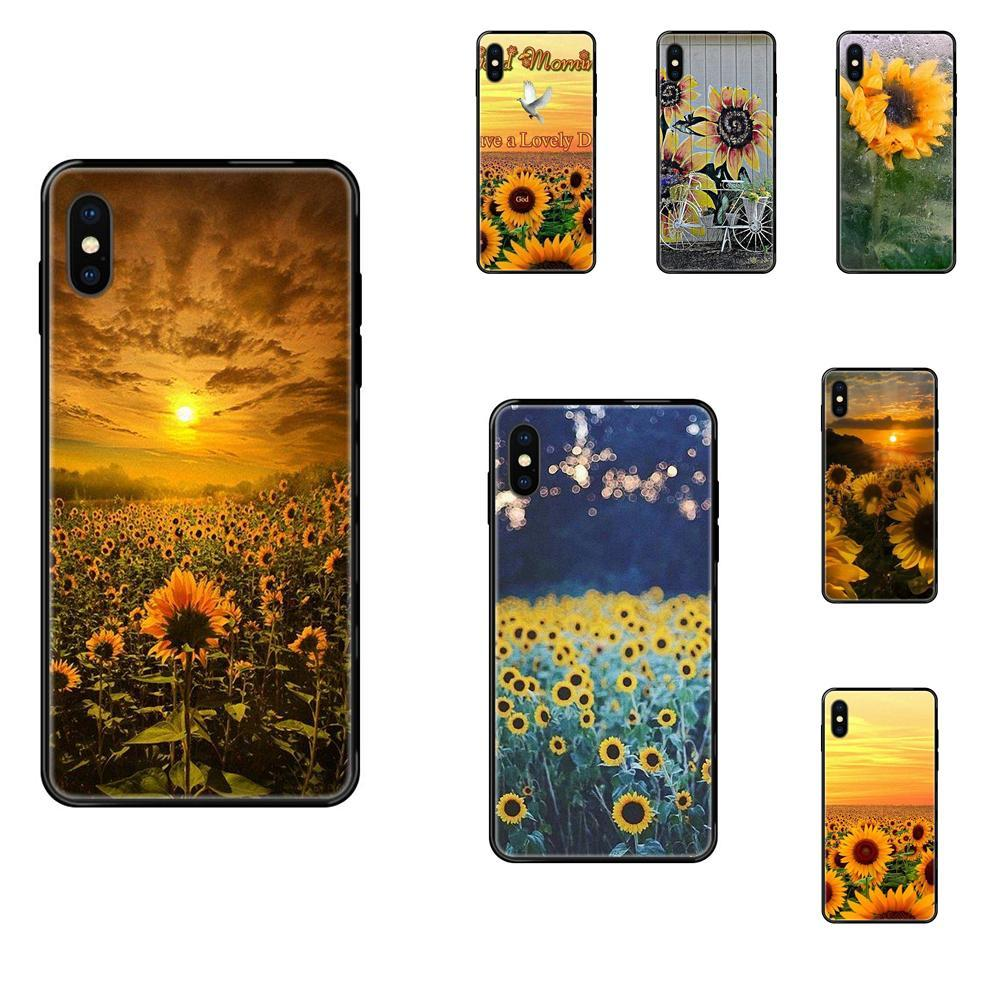 Morbido fredda Miglior Cover Case Bello Girasole Giardino d'estate per Apple iPhone 11 12 Pro X XR XS MAX 5 5S 5C SE 6 7 8 6S più