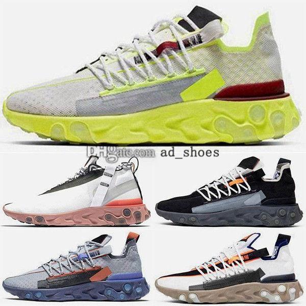 epiche grandi ragazzi kid in esecuzione ISPA corridori Sneakers formatori EUR 35 reagiscono noi 12 46 dimensioni 5 scarpe casual donne uomini mens viola 386 bianco Schuhe