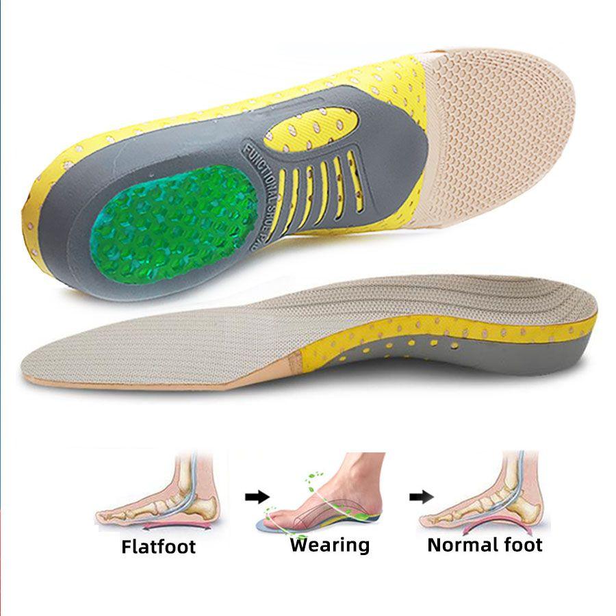 Plantillas ortopédicas Orthotics Pie de salud plana Gel Sole Pad para zapatos Insertar Arch Support Pad para plantar Fasciitis Pies Cuidado Plantillas