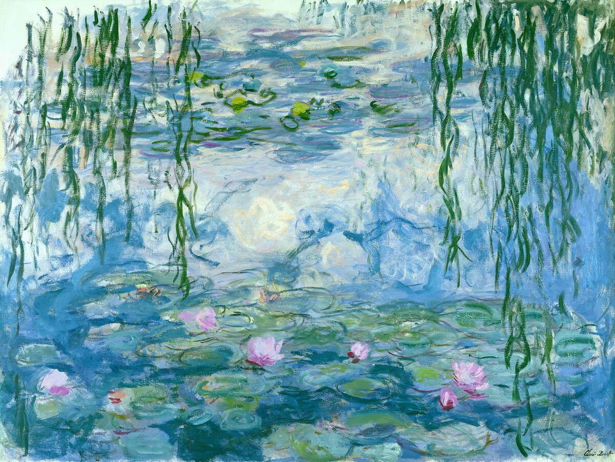 Claude Monet Water Lilies Home Decor Handpainted &HD Print Oil Painting On Canvas Wall Art Canvas Pictures 7181