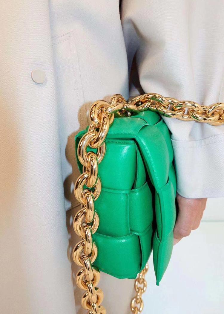 Designer-Handtaschen Frauen Knit reale echte Leder-Kette Umhängetasche Messenger Bag Kuhfell Woven Taschen und Handtaschen