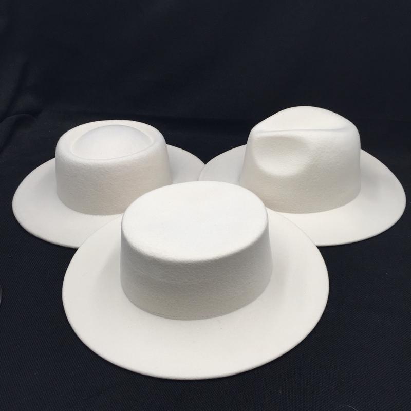 Шерстяные войлочные женские шляпы белые широкие Bril Fedoras для свадьбы шляпы Федора женские кепки
