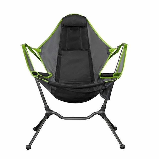 Chaise de camping en plein air détendu Rocking Chair Luxe 2020 Détente nouveau fauteuil pliant Jardin Confort Mélangisme Chaise de pêche