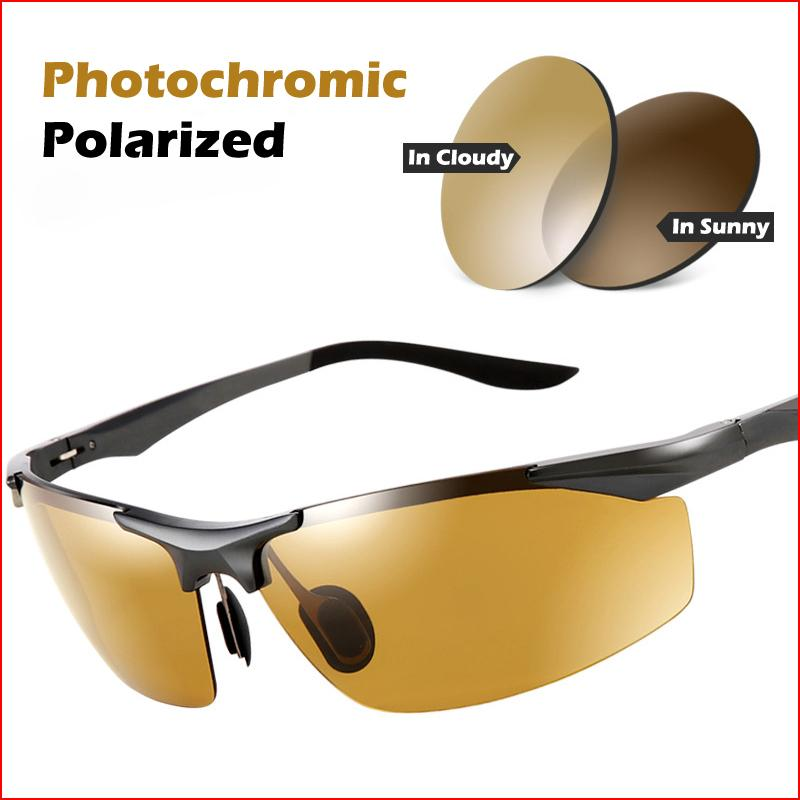 AOTEAN Fishing For Day Night Photochromic Polarized Sunglasses 5206 Men's Male Safety Best Drivers UV400 Driving Sun Glasses Esnes