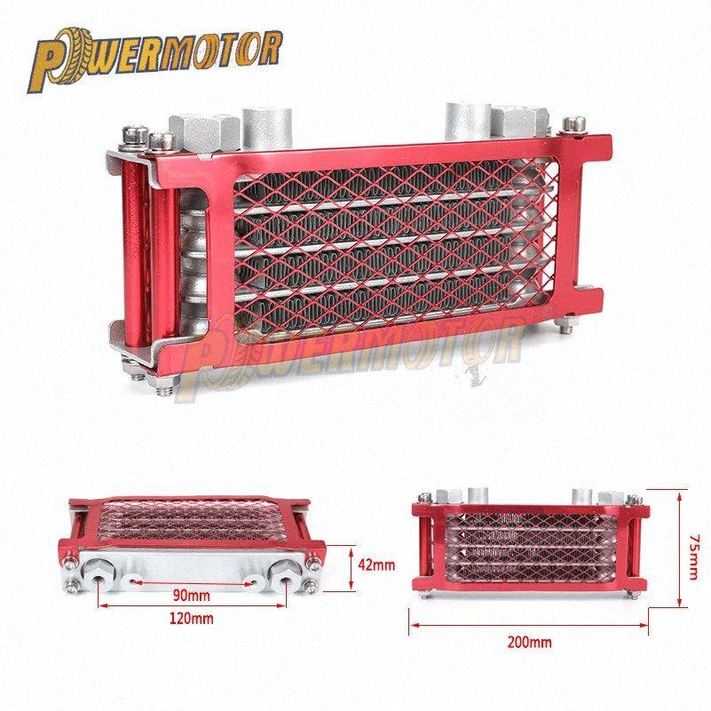 Oil Motos Cooler chinês fez Radiator Radiador de óleo Set Para 50cc 70cc 90cc 110cc 125cc 140cc Horizontal Motor y4Do #