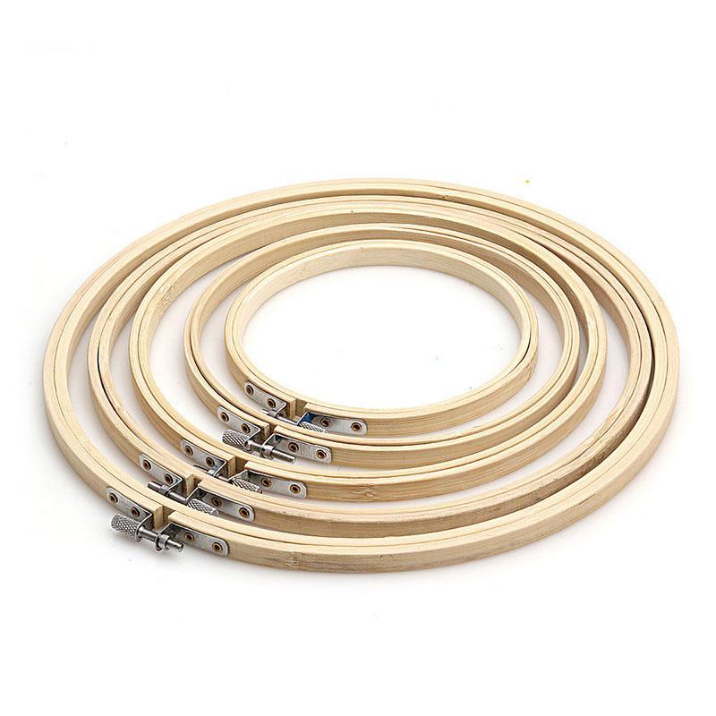 11 Größe 10-40cm Bambusrahmen Stickrahmen Ring DIY Nadel Handwerk Kreuzstich-Maschine Rundschleife Hand Haushaltsnaehmaschinen Werkzeuge