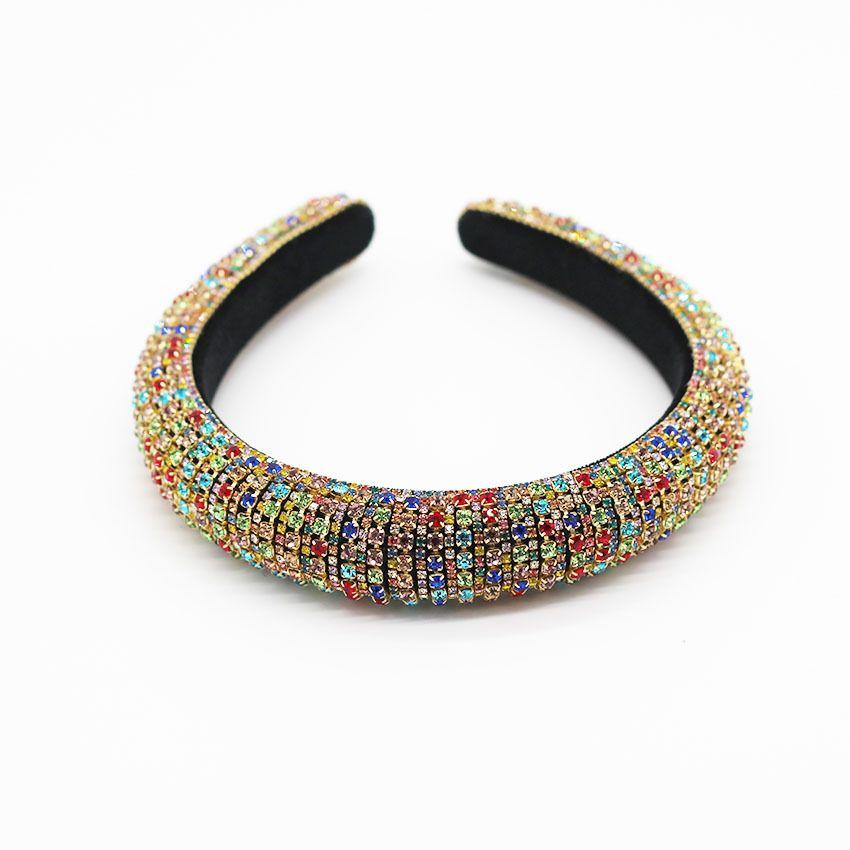 5Style strass Cristal Headband faixa de cabelo de veludo ampla margem barrocos partido cocar acessórios banda cabelo das mulheres T3I51121