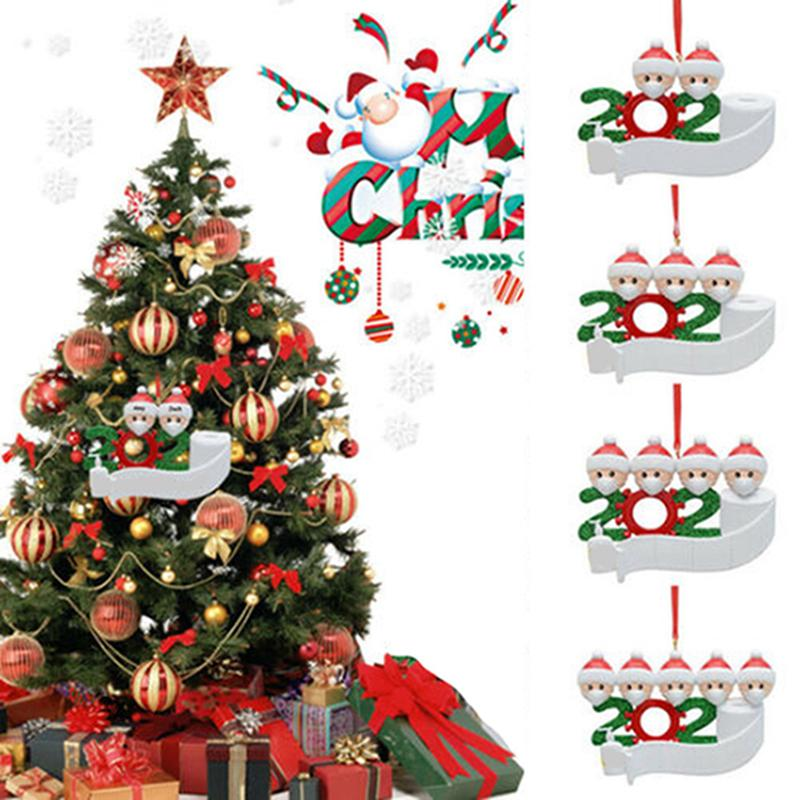 2020 Карантин Новогоднего украшения партии подарки Персонализированных снеговики семья Украшение Pandemic с маской для рук Санированного моря корабля IIA603