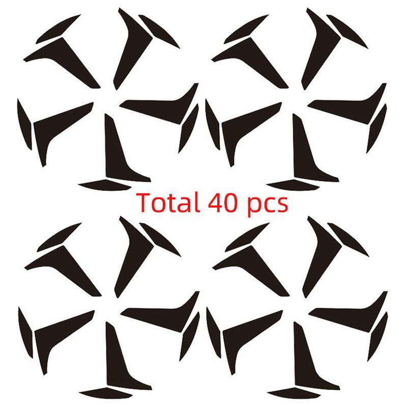 """3D Carbon Fiber Vinyl 18 """"RimPrints 19"""" колеса Декаль наклейки для HONDA ACCORD Touring Hybrid десятым Gen 2018 2019 Car Styling (для 4 колеса)"""