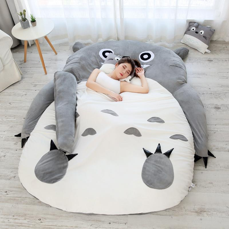 Leisure Plush Sofa Tatami Mattress My Neighbor Totoro Bed Cartoon Soft Mattress Balcony Bedroom Single Sofa for Children Family DY50900