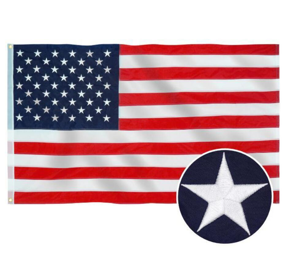 2020 Amérique Stars and Stripes USA drapeaux campagne présidentielle Drapeau Bannière pour le président Bannière de la campagne 90 * 150cm Drapeaux Jardin