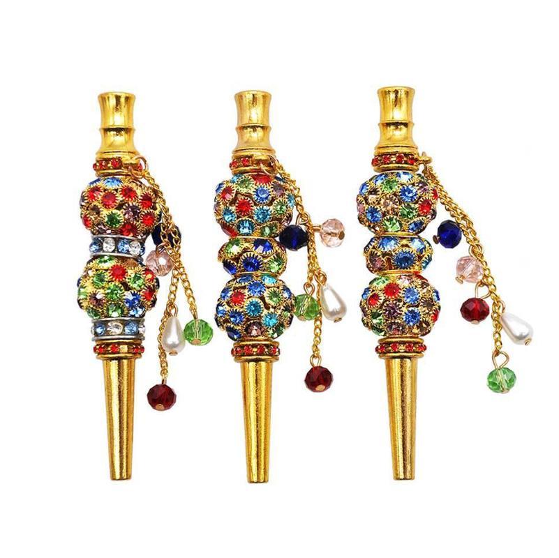 Mode main Bijoux en alliage marqueté Hookah bouche Conseils Chicha Chicha Filtre Astuce Embouchure Al Fakher verre d'eau Bangs Pipes Accessoires