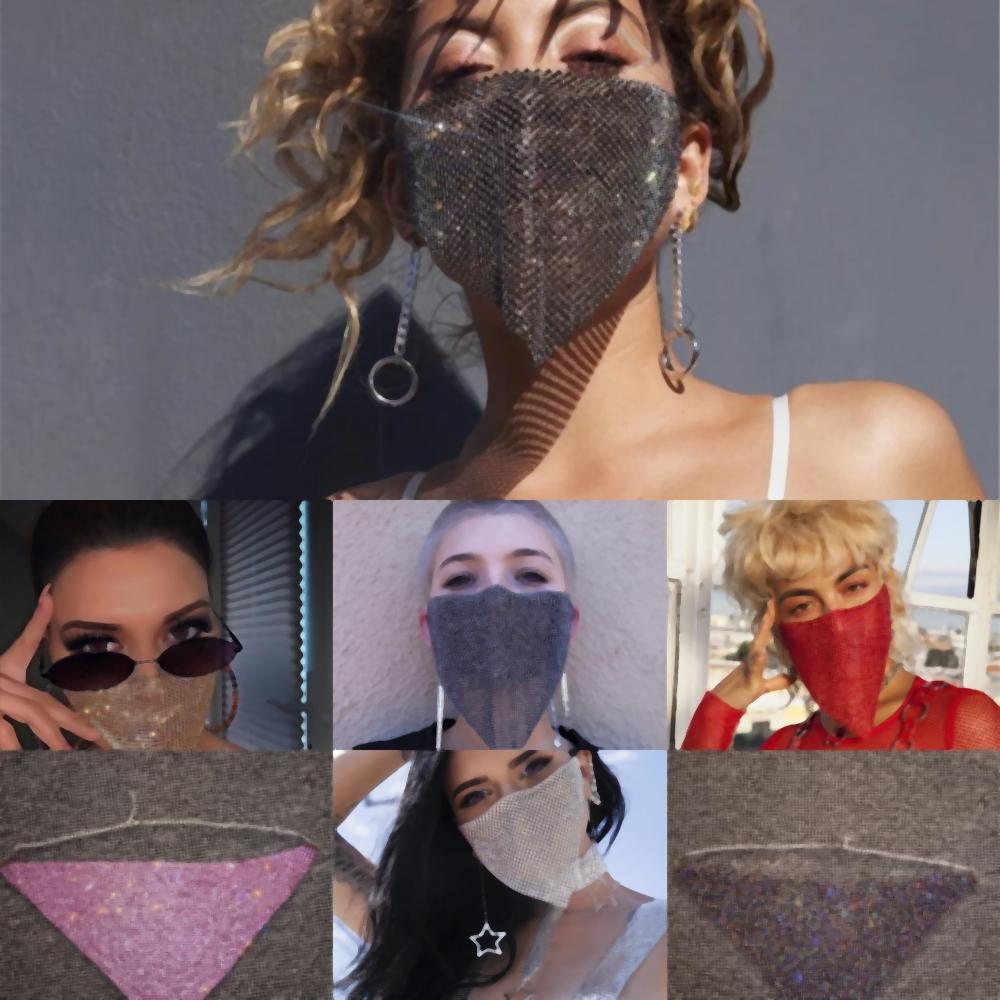 PExtW Хэллоуин маски маска для лица Fashion блестки Хэллоуин маски маски женское лицо солнцезащитный крем с алмазными маски модный горный хрусталь маски для лица