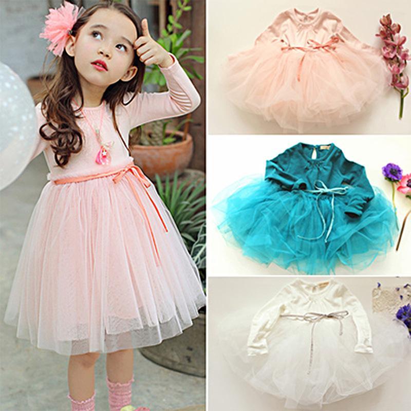 Abiti ragazze dei bambini di nuovo 2020 modelli primavera / autunno coreano temperamento Principessa Abiti di qualità delle neonate sveglie scherza i vestiti