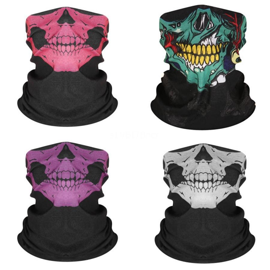 2020 Sıcak Satış Unisex 3D Sihirli Çok Fonksiyonlu Borulu Sorunsuz bandanas Kafa Kafatası Eşarp Bisiklet Yüz # 369 # 396 Boyun tozluk Yürüyüş C Maske
