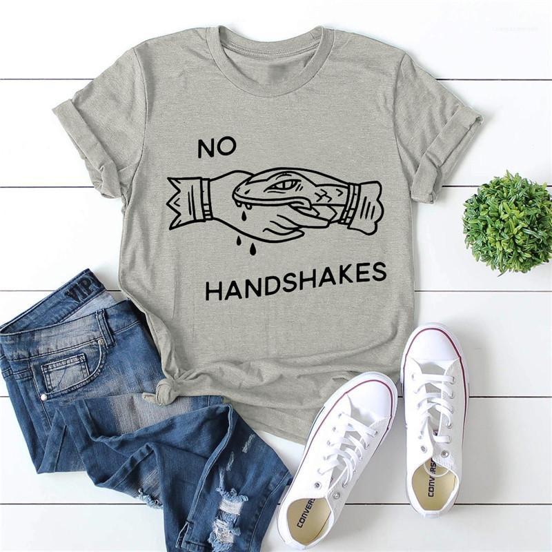 Imprimé Femmes Designer T-shirts manches courtes ronde Casual coton col T-shirts Femmes d'été Vêtements Lettre créativité