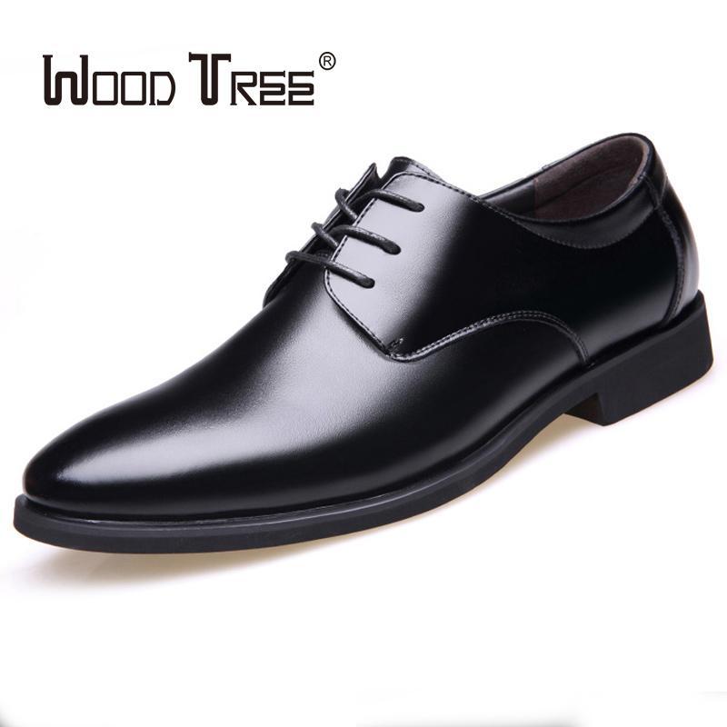 WOODTREE 봄과 가을 패션 핫 트렌드 남자 신발 영국 비즈니스 드레스 신발
