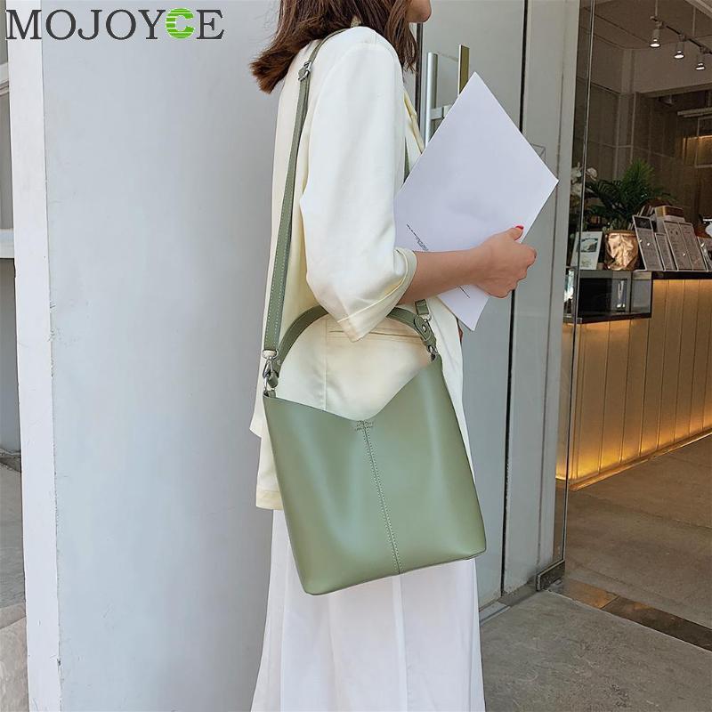 Lady Cubet Bag PU Cuero 2020 Capacidad de las mujeres Empalme Bolsas Bolsas Sólido Hombro Crossbody Mujeres Cuero grande para bolsos de color XUIWW