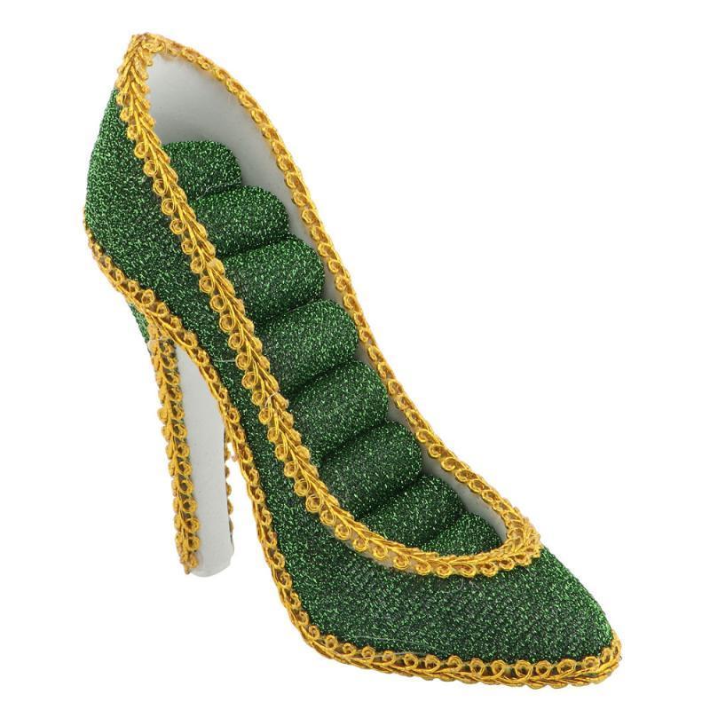 1pc Jóias cremalheira criativa Resina Artesanato de jóias titular de armazenamento (verde escuro)