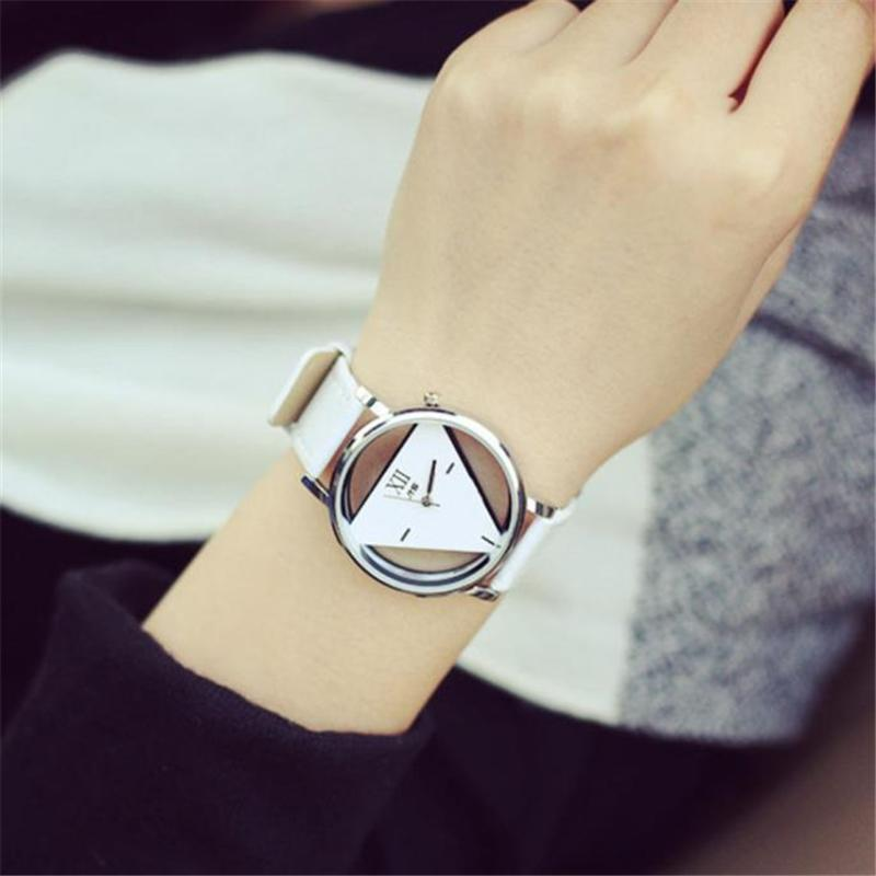 Watch women Wrist Quartz Modern NEW Luxury Fashion Hollowed-out Triangular Dial Casual Gift for Female watches
