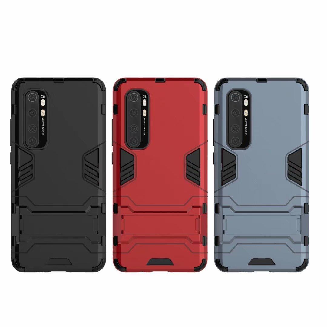 Híbrido Kickstand Anti Choque Defender Armadura TPU + PC cobertura para Xiaomi 10 LITE NOTA 10 LITE redmi 9 9C 9A 50PCS / LOT