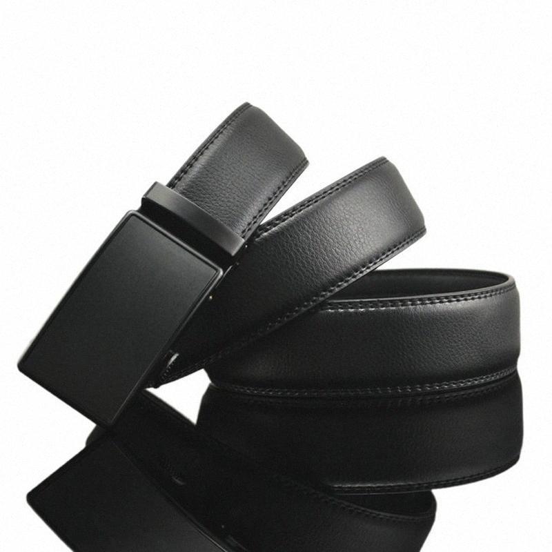 [Hotti] Marke Herren Gürtel Lederarmband Mann-Gurt für Mann-Legierung Automatische Buckle Vintage-Jeans Cintos masculinos nYx0 #